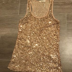 Gold tank top! Perfect for New Years Eve!